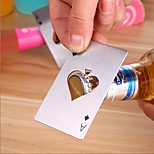 1PC Poker Shape Stainless Steel Bottle Opener Soda Beer Cap Bar Tools