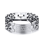 Men's Chain Bracelet Punk Rock Titanium Steel Square Jewelry For Party Gift