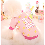 Собака Толстовка Одежда для собак На каждый день Звезды Синий Розовый