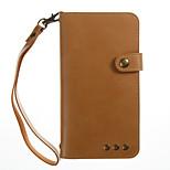 для чехлов держатель карты держатель кошелек с подставкой флип магнитный полный корпус корпус сплошной цвет твердый кожа pu для xiaomi