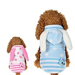 Dog Hoodie Dog Clothes Casual/Daily British Blushing Pink Blue