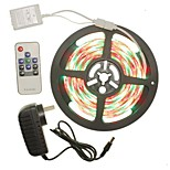 5M 300x2835LED Strip Light Sets Waterproof RGB 10 key controller AC100-240V AU / EU / US / UK Power Plug  DC12V 2A
