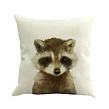 1 Pcs Raccoon Animal Printing Cushion Cover Novelty Pillow Case Square Pillow Cover