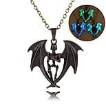 Муж. Ожерелья-цепочки Бижутерия В форме животных Серебрянное покрытие Животный дизайн Готика Бижутерия Назначение Для вечеринок Halloween
