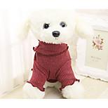 Собака Свитера Одежда для собак На каждый день Принцесса Оранжевый Серый Желтый Красный Радужный