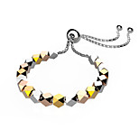 Women's Men's Chain Bracelet Jewelry Fashion Hip-Hop Copper Gold Plated Circle Geometric Jewelry ForSpecial Occasion Halloween