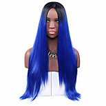 Women Synthetic Wig Capless Long Straight Royal Blue Lolita Wig Party Wig Halloween Wig Carnival Wig Cosplay Wigs Natural Wig Costume Wig