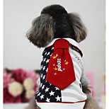 Dog Vest Dog Clothes Casual/Daily Stars Red Black