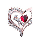 Women's Brooches Rhinestone Fashion Elegant Rhinestone Alloy Heart Jewelry For Party Gift