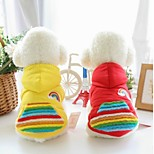 Dog Vest Dog Clothes Casual/Daily Geometic Yellow Red