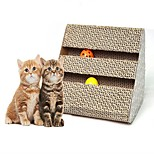 Кошка Игрушка для котов Игрушки для животных Интерактивный Когтеточка Бумага Для домашних животных