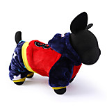 Dog Clothes/Jumpsuit Dog Clothes Casual/Daily Letter & Number Blue Red Yellow