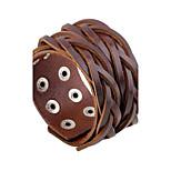Муж. Кожаные браслеты Мода Rock Кожа Круглой формы Бижутерия Назначение Повседневные