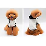 Собака Толстовки Одежда для собак На каждый день Сплошной цвет Белый Темно-синий Серый