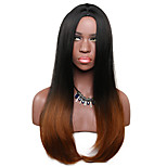 Women Synthetic Wig Capless Long Straight Light Brown Ombre Hair Lolita Wig Party Wig Halloween Wig Carnival Wig Cosplay Wig Natural Wigs