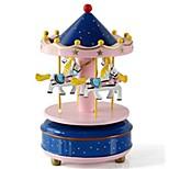 музыкальная шкатулка Игрушки Лошадь Карусель Дерево Куски Универсальные Рождество День рождения Подарок