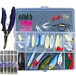 153 pcs Fishing Lures Jig Head Shad Grub Soft Jerkbaits Metal Bait Hard Bait Soft Bait Spoons Minnow Crank Pencil Popper Vibration/VIB