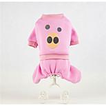 Собака Комбинезоны Одежда для собак На каждый день Носки детские Кофейный Красный Зеленый Синий Розовый