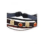 Men's Women's Leather Bracelet Handmade Adjustable Leather Round Jewelry For Casual Going out