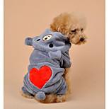 Dog Clothes/Jumpsuit Dog Clothes Casual/Daily Cartoon Khaki Gray