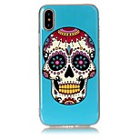 For iPhone X iPhone 8 Case Cover Ultra-thin Pattern Back Cover Case Skull Soft TPU for Apple iPhone X iPhone 8 Plus iPhone 8 iPhone 7
