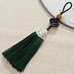 Bag / Phone / Keychain Charm Tassel Cartoon Toy Wooden Polyester Chinese Style 13.5CM