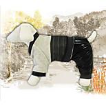 Собака Плащи Одежда для собак На каждый день Английский Черный