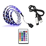 USB Power Supply RGB LED Strip light lamp Waterproof 50CM 2.2W 30leds 5050SMD RGB Light LED Strip Lamp DC5V For TV Background Lighting 1set