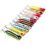 10 pcs Fishing Lures Hard Bait Popper g/Ounce80mm mm/3-1/4 inchABS Plastic Sea Fishing Trolling & Boat Fishing Lure Fishing