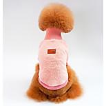 Dog Sweatshirt Dog Clothes Casual/Daily Solid Khaki Blushing Pink Green Dark Blue