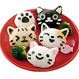 3шт милый кот суши нори риса декор резчик Бенто производитель сэндвич дий инструмент