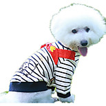 Dog Sweatshirt Dog Clothes Casual/Daily Cartoon White/Black For Pets