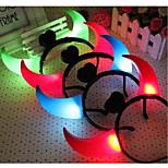 Недорогие -led ox horns светящиеся головные уборы головные уборы для Хэллоуина Party ramdon color