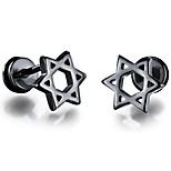 Муж. Серьги-гвоздики Мода Rock Титановая сталь В форме звезды Бижутерия Назначение Повседневные