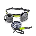 Dog Leash Hands Free Leash Reflective Breathable Classic Nylon Green Black