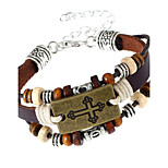 Men's Women's Leather Bracelet Fashion Leather Geometric Jewelry For Party Daily