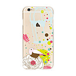 For iPhone X iPhone 8 Case Cover Transparent Pattern Back Cover Case Animal Flower Soft TPU for Apple iPhone X iPhone 8 Plus iPhone 8