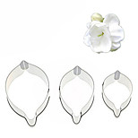 3Pcs Jasmine Cake Fondant Cutter Stainless Steel Petal Cutting Mold Decorating Tools
