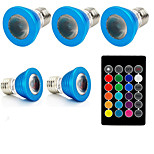 3W E27 Точечное LED освещение 1 Высокомощный LED 240 lm RGB 610-640, 460-470, 501-540 К На пульте управления Декоративная V 1 комплект