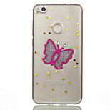 For Huawei P10 Lite P8 Lite (2017) Phone Case TPU Material Butterfly Flash Powder Phone Case Nova 2 P10