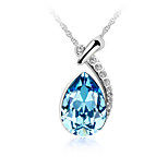 Women's Choker Necklaces Pendant Necklaces Crystal Cubic Zirconia Round Zircon Silver Plated Fashion Personalized Jewelry For Wedding