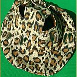 Собака Банданы и шляпы Одежда для собак ковбой Леопардовый принт Желтый Кофейный