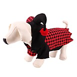 Dog Costume Coat Hoodie Sweatshirt Dog Clothes Party Cosplay Halloween Christmas New Year's Angel & Devil Red