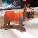 Dog Sweatshirt Dog Clothes Casual/Daily British Gray Orange