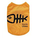 Собака Футболка Жилет Одежда для собак Для вечеринки День рождения Праздник На каждый день Спорт Мода Кость Белый Желтый Пурпурный