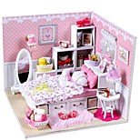 DIY KIT Music Box Toys House Architecture Resin Romantic Pieces Unisex Birthday Gift