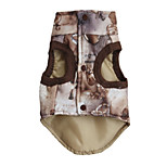 Dog Vest Dog Clothes Casual/Daily Geometic Coffee