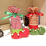 cheap -1Pcs Cute Christmas Sock Shape Wine Bottle Bag 20cm*14cm*3cm