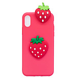 For iPhone X iPhone 8 Case Cover Shockproof DIY Back Cover Case 3D Cartoon Fruit Soft TPU for Apple iPhone X iPhone 8 Plus iPhone 8