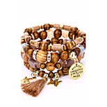 Men's Women's Strand Bracelet Wrap Bracelet Vintage Hip-Hop Wood Alloy Geometric Jewelry For Club Street